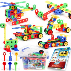 163 Piece STEM Toys Kit by Brickyard Building Blocks
