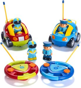 Prextex Pack of 2 Cartoon Radio Control Toys for Kids