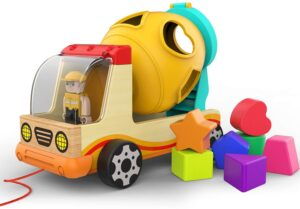 TOP BRIGHT Wooden Shape Sorter Toys