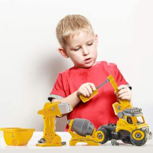 Top Race Take Apart Toys with Electric Drill