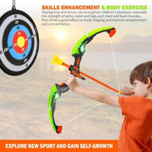 Toysery Bow and Arrow for Kids with LED Flash Lights