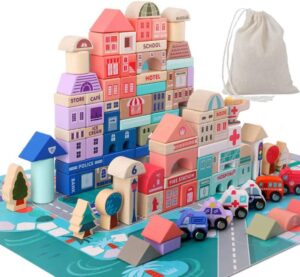 Wooden Building Blocks Set by Migargle