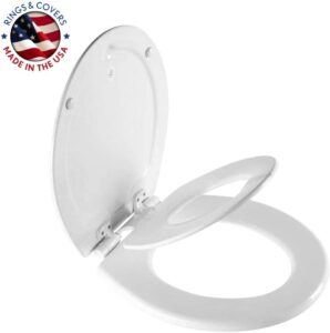 MAYFAIR NextStep2 Toilet Seat with Built-In Potty-Training Seat